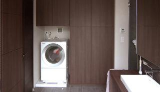 浴室・脱衣空間の収納アイデアの画像