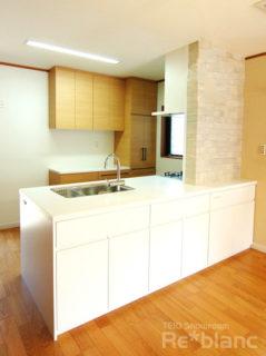 ★収納実例★家事動線を重視したキッチン&カップボードの画像
