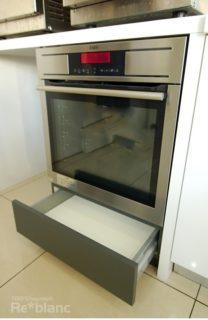 オーダー収納実例 海外製オーブンビルトインの画像