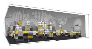 シンプルで機能的なオーダーメード家具の画像